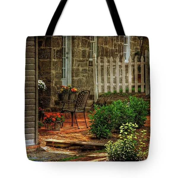A Seat In The Shade Tote Bag by Lois Bryan