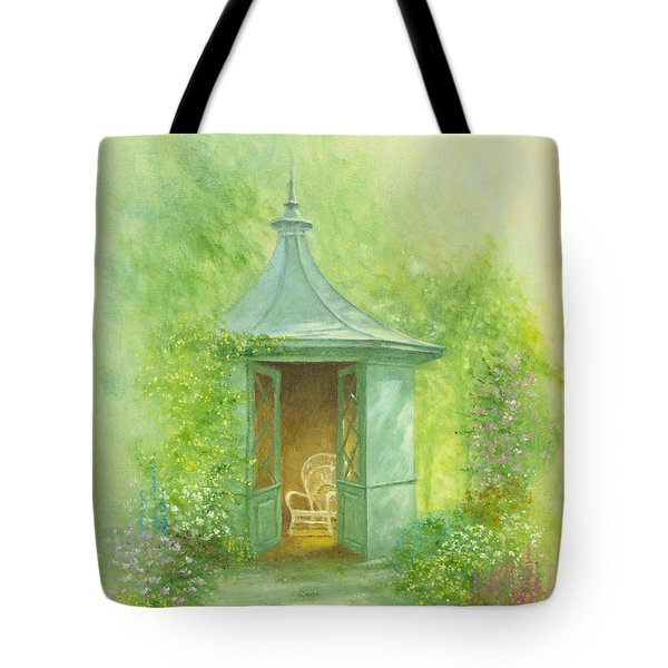 A Seat In The Summerhouse Tote Bag by Garry Walton