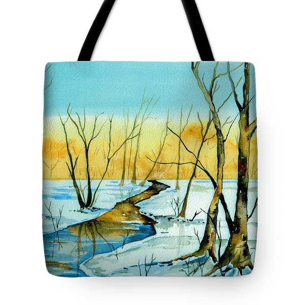 A Sign Of Winter Tote Bag by Brenda Owen