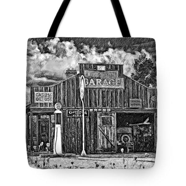 A Simpler Time Pencil Sketch Version Tote Bag by Steve Harrington
