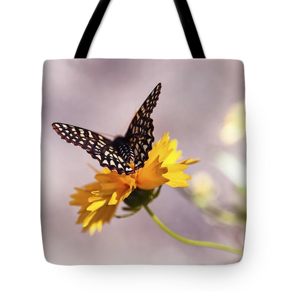 A Sip Of Coreopsis Tote Bag by Caitlyn  Grasso