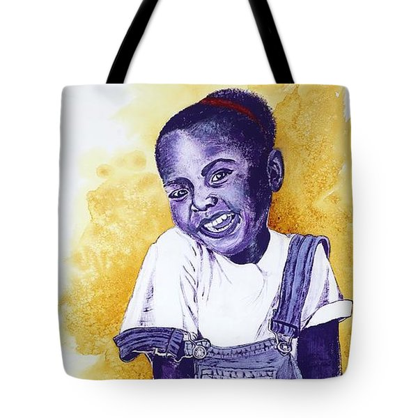 A Smile For You From Haiti Tote Bag by Margaret Bobb