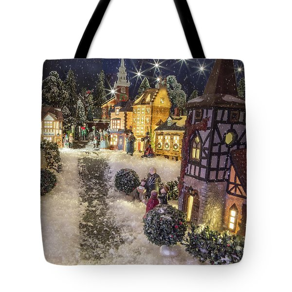 A Snowy Evening Tote Bag by Caitlyn  Grasso
