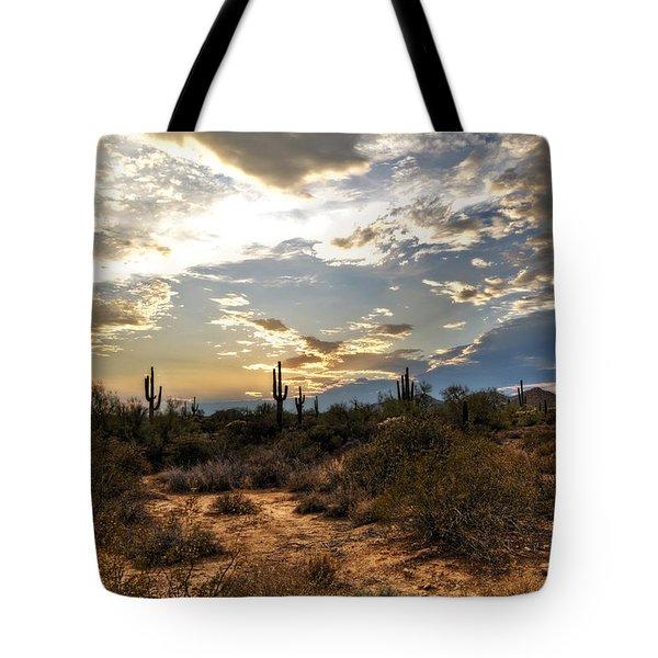 A Sonoran Desert Sunset  Tote Bag by Saija  Lehtonen