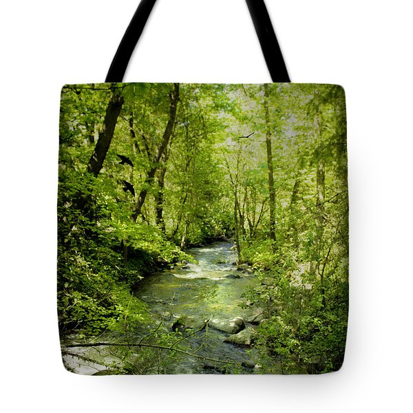 A Spring Day At Lithia Creek Tote Bag by Diane Schuster