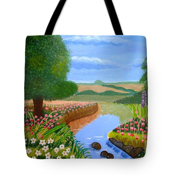 A Spring Stream Tote Bag by Magdalena Frohnsdorff