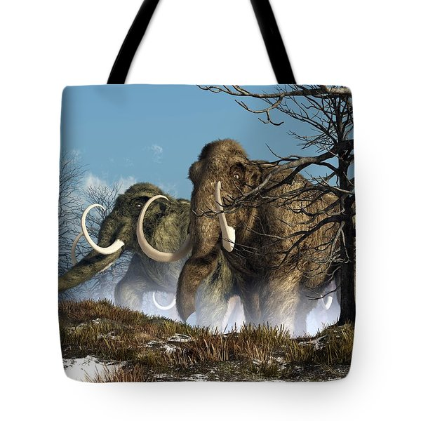 A Storm Of Mammoths  Tote Bag by Daniel Eskridge