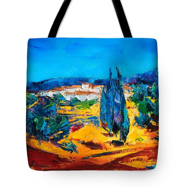A Sunny Day in Provence Tote Bag by Elise Palmigiani