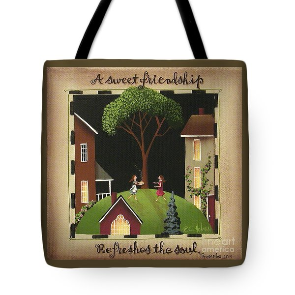 A Sweet Friendship Tote Bag by Catherine Holman