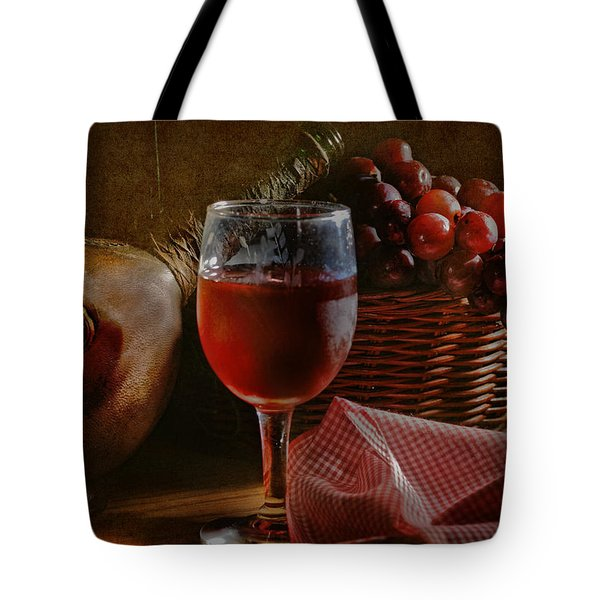 A Taste Of The Grape Tote Bag by David and Carol Kelly