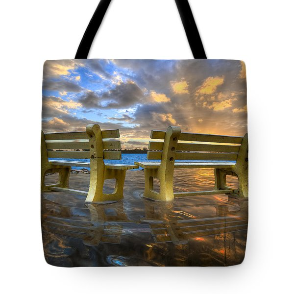 A Time For Reflection Tote Bag by Debra and Dave Vanderlaan