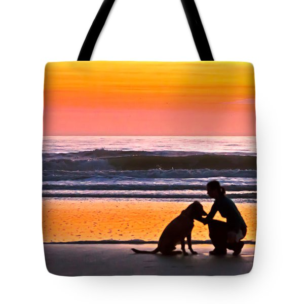 A Time To Bond Tote Bag by Jim Finch