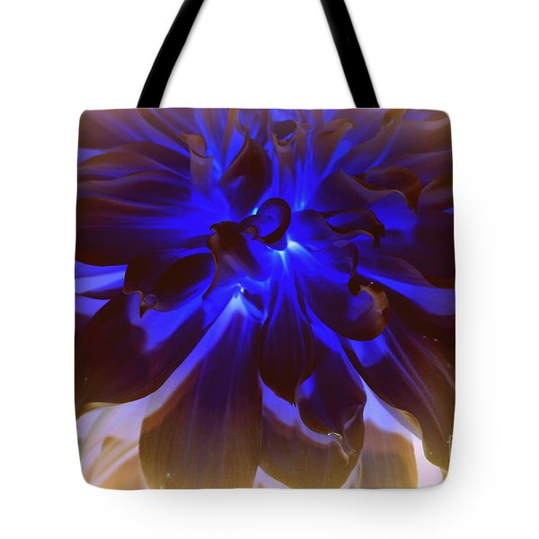 A Touch Of Blue Tote Bag by Photographic Art and Design by Dora Sofia Caputo