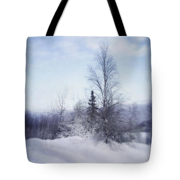 A Tree In The Cold Tote Bag by Priska Wettstein