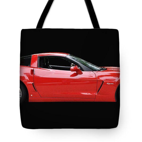 A Very Red Corvette Z6 Tote Bag by Allen Beatty
