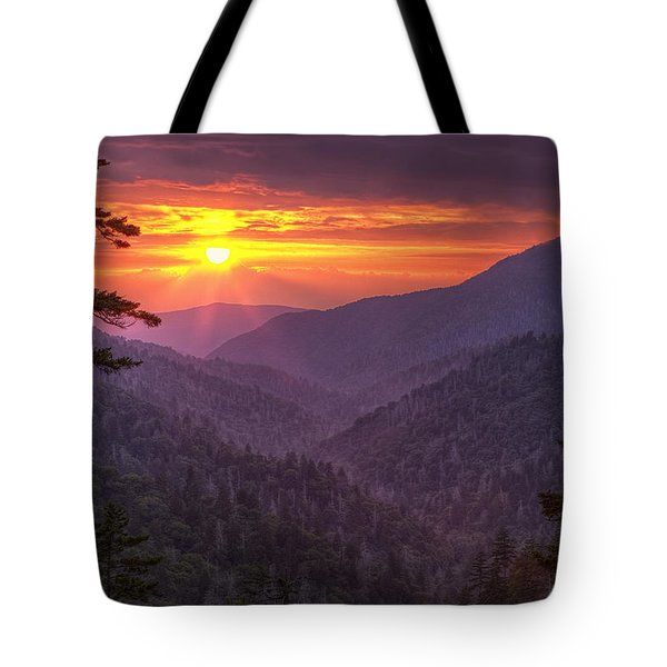 A View At Sunset Tote Bag by Andrew Soundarajan