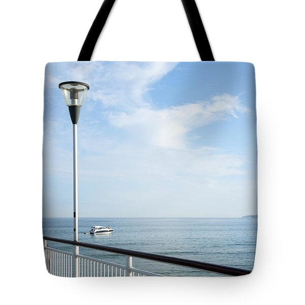 a View from Pier Tote Bag by Svetlana Sewell