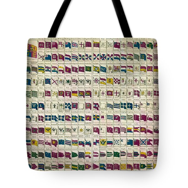 A View of the Flags Tote Bag by Nomad Art And  Design