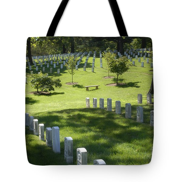 A Waiting Bench Tote Bag by Paul W Faust -  Impressions of Light