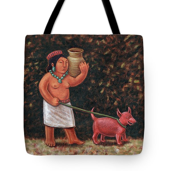 A Walk In Old Colima Tote Bag by Holly Wood
