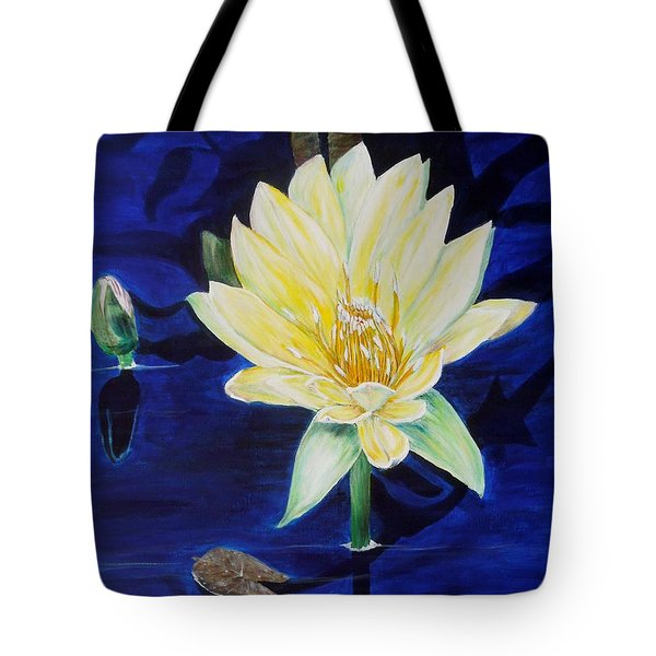 A Waterlily Tote Bag by Marilyn  McNish