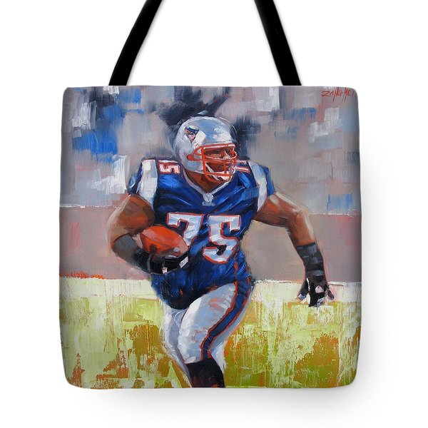 A Well Conditioned Athlete Tote Bag by Laura Lee Zanghetti