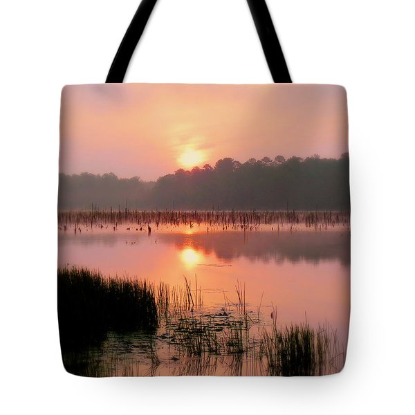 A Wetlands Sunrise Tote Bag by JC Findley