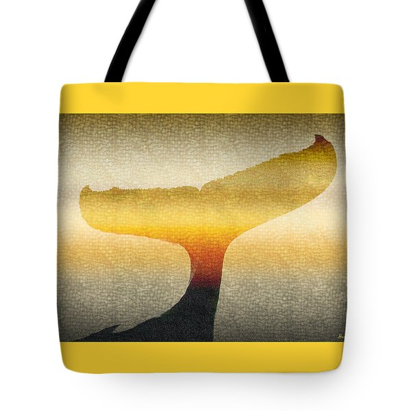 A Whales Tale Tote Bag by Holly Kempe