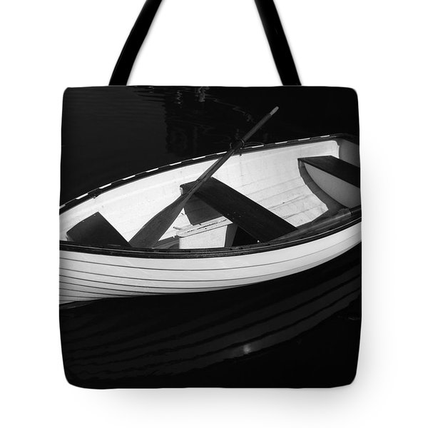 A White Rowboat Tote Bag by Xueling Zou