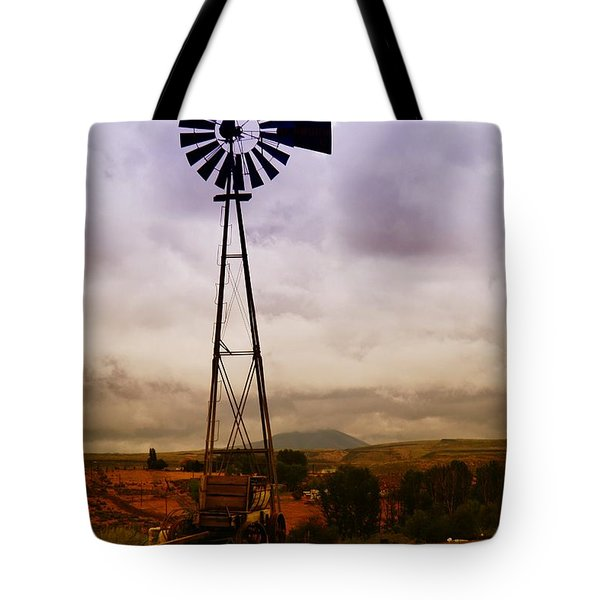 A Windmill And Wagon  Tote Bag by Jeff Swan