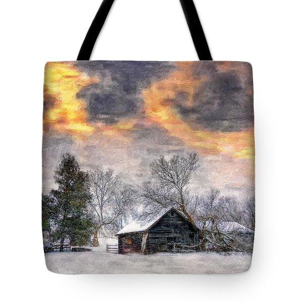 A Winter Sky Paint Version Tote Bag by Steve Harrington
