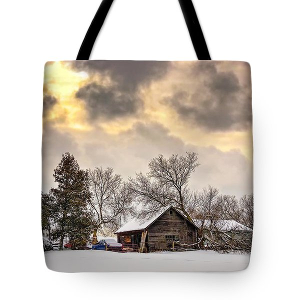 A Winter Sky Tote Bag by Steve Harrington