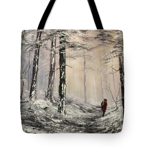 A Winter Walk Tote Bag by Jean Walker