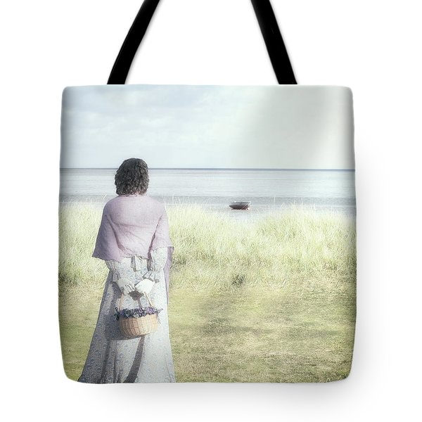 A Woman And The Sea Tote Bag by Joana Kruse