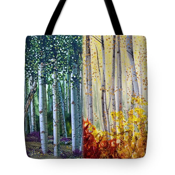 A Year In An Aspen Forest Tote Bag by Stanza Widen