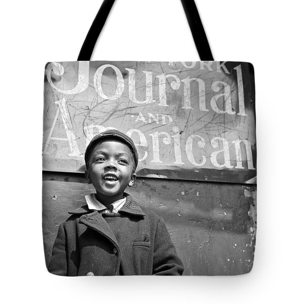 A Young Harlem Newsboy Tote Bag by Underwood Archives