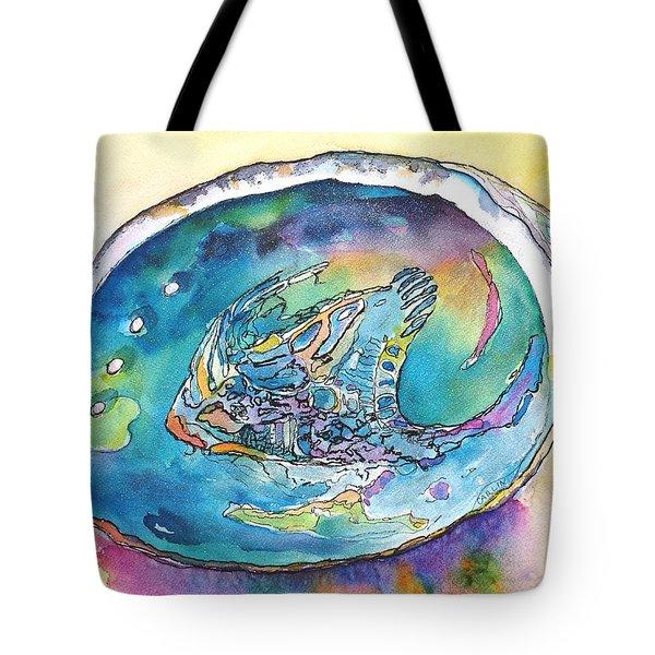 Abalone Shell Tropical Color Tote Bag by Carlin Blahnik