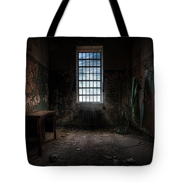 Abandoned Building - Old Room - Room With A Desk Tote Bag by Gary Heller