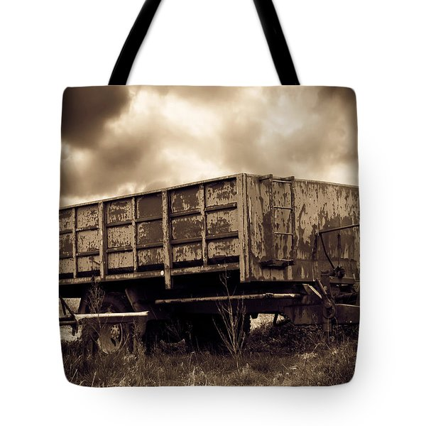 Abandoned Cart Tote Bag by Wim Lanclus