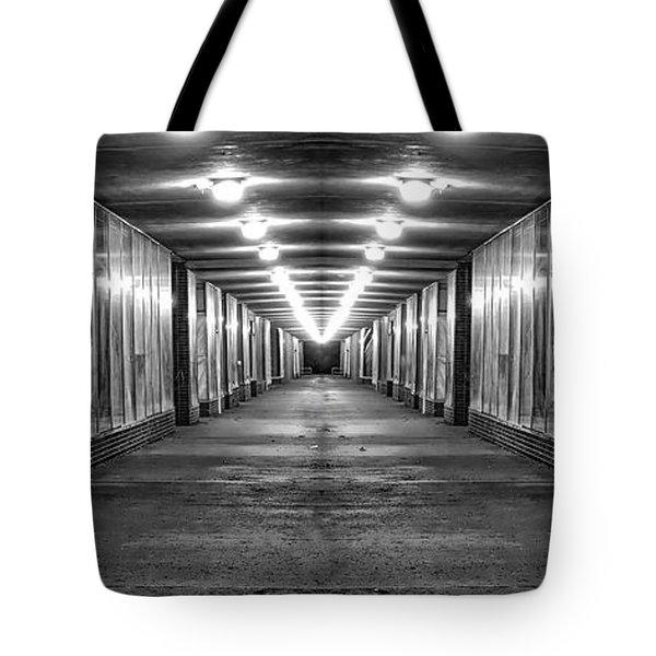 Abandoned Strip Mall Panoramic Tote Bag by Tom Mc Nemar