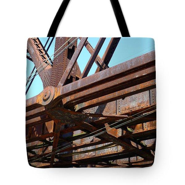 Abandoned - Whitford Railroad Bridge Tote Bag by Richard Reeve