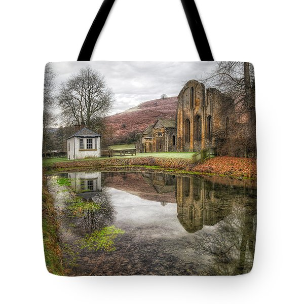 Abbey Reflection Tote Bag by Adrian Evans