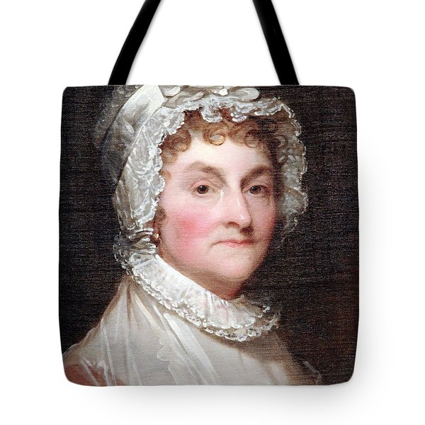 Abigail Smith Adams Up Close -- 1 Tote Bag by Cora Wandel