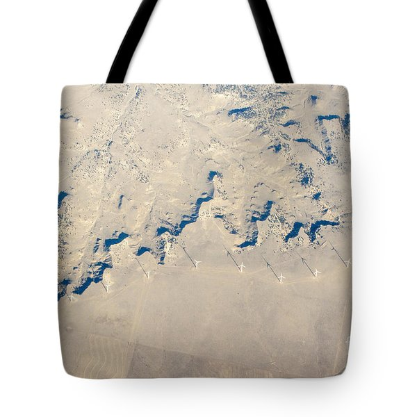 Above Kansas Windmills Tote Bag by Darleen Stry
