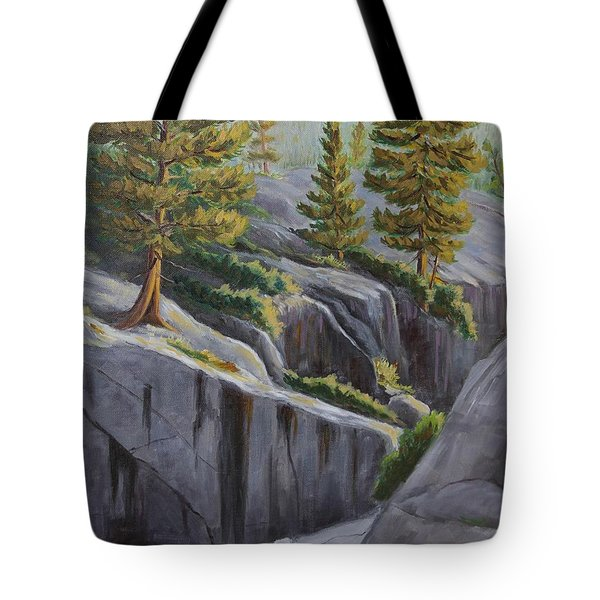 Above The Gorge Tote Bag by Cheryl Bloomfield