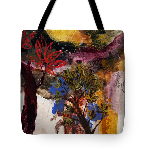 Above The Tree Tops Tote Bag by Robin Maria  Pedrero