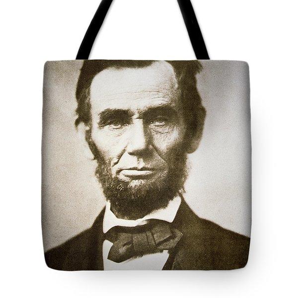 Abraham Lincoln Tote Bag by Alexander Gardner