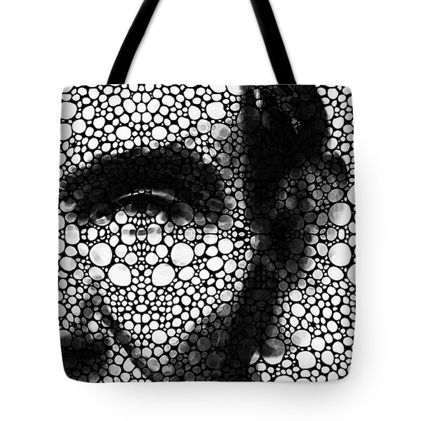 Abraham Lincoln - An American President Stone Rock'd Art Print Tote Bag by Sharon Cummings