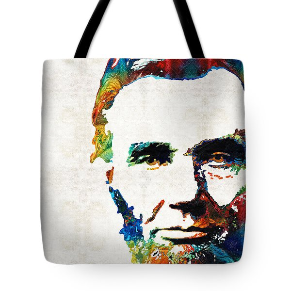 Abraham Lincoln Art - Colorful Abe - By Sharon Cummings Tote Bag by Sharon Cummings