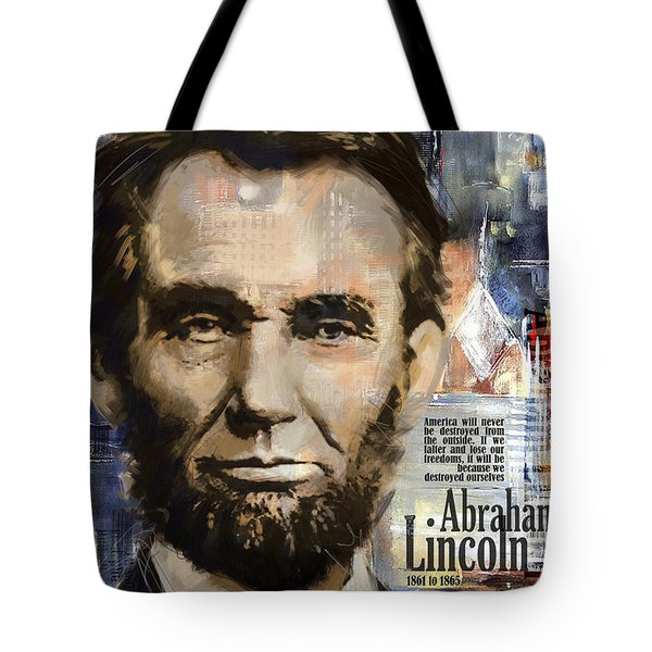 Abraham Lincoln Tote Bag by Corporate Art Task Force